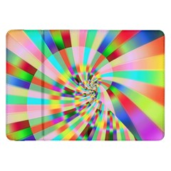 Irritation Funny Crazy Stripes Spiral Samsung Galaxy Tab 8 9  P7300 Flip Case