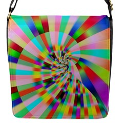 Irritation Funny Crazy Stripes Spiral Flap Messenger Bag (s)