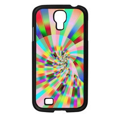 Irritation Funny Crazy Stripes Spiral Samsung Galaxy S4 I9500/ I9505 Case (black)