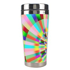 Irritation Funny Crazy Stripes Spiral Stainless Steel Travel Tumblers