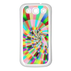 Irritation Funny Crazy Stripes Spiral Samsung Galaxy S3 Back Case (white)
