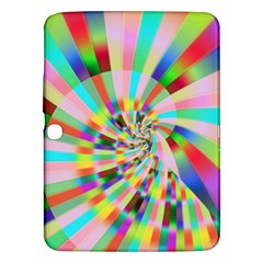 Irritation Funny Crazy Stripes Spiral Samsung Galaxy Tab 3 (10 1 ) P5200 Hardshell Case