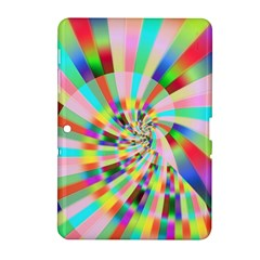 Irritation Funny Crazy Stripes Spiral Samsung Galaxy Tab 2 (10 1 ) P5100 Hardshell Case