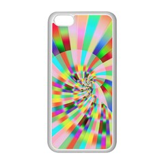 Irritation Funny Crazy Stripes Spiral Apple Iphone 5c Seamless Case (white)