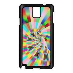 Irritation Funny Crazy Stripes Spiral Samsung Galaxy Note 3 N9005 Case (black)