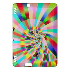 Irritation Funny Crazy Stripes Spiral Kindle Fire Hdx Hardshell Case by designworld65