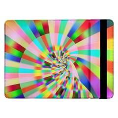 Irritation Funny Crazy Stripes Spiral Samsung Galaxy Tab Pro 12 2  Flip Case
