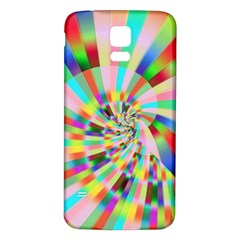 Irritation Funny Crazy Stripes Spiral Samsung Galaxy S5 Back Case (white)