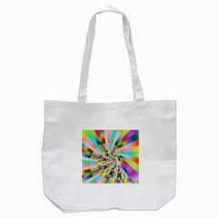 Irritation Funny Crazy Stripes Spiral Tote Bag (white)