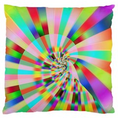 Irritation Funny Crazy Stripes Spiral Large Flano Cushion Case (one Side)