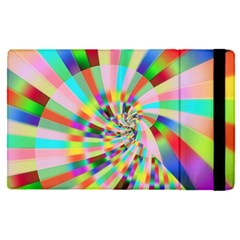 Irritation Funny Crazy Stripes Spiral Apple Ipad Pro 9 7   Flip Case by designworld65