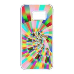 Irritation Funny Crazy Stripes Spiral Samsung Galaxy S7 White Seamless Case by designworld65