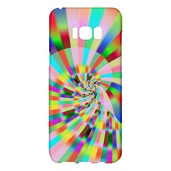 Irritation Funny Crazy Stripes Spiral Samsung Galaxy S8 Plus Hardshell Case  by designworld65