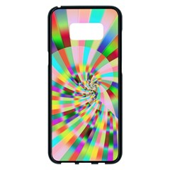 Irritation Funny Crazy Stripes Spiral Samsung Galaxy S8 Plus Black Seamless Case