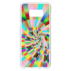 Irritation Funny Crazy Stripes Spiral Samsung Galaxy S8 Plus White Seamless Case