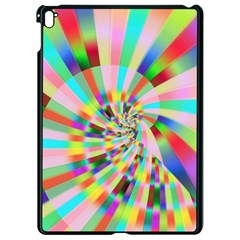 Irritation Funny Crazy Stripes Spiral Apple Ipad Pro 9 7   Black Seamless Case by designworld65