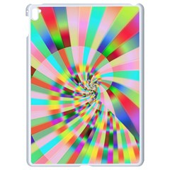 Irritation Funny Crazy Stripes Spiral Apple Ipad Pro 9 7   White Seamless Case