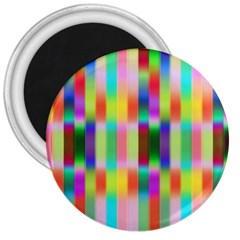 Multicolored Irritation Stripes 3  Magnets by designworld65