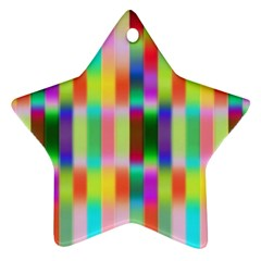 Multicolored Irritation Stripes Ornament (star)