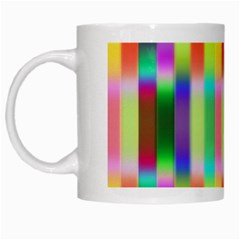 Multicolored Irritation Stripes White Mugs