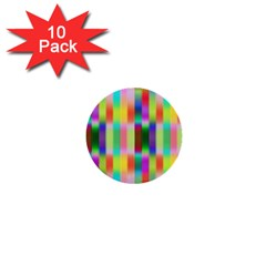 Multicolored Irritation Stripes 1  Mini Buttons (10 Pack)