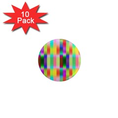 Multicolored Irritation Stripes 1  Mini Magnet (10 Pack)  by designworld65