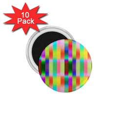 Multicolored Irritation Stripes 1 75  Magnets (10 Pack)  by designworld65