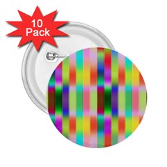 Multicolored Irritation Stripes 2 25  Buttons (10 Pack)