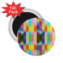 Multicolored Irritation Stripes 2 25  Magnets (100 Pack)  by designworld65