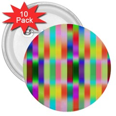 Multicolored Irritation Stripes 3  Buttons (10 Pack)