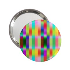 Multicolored Irritation Stripes 2 25  Handbag Mirrors