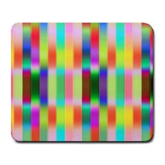 Multicolored Irritation Stripes Large Mousepads by designworld65