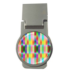 Multicolored Irritation Stripes Money Clips (round)