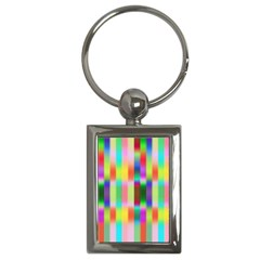 Multicolored Irritation Stripes Key Chains (rectangle)