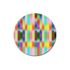 Multicolored Irritation Stripes Magnet 3  (round) by designworld65