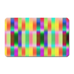 Multicolored Irritation Stripes Magnet (rectangular) by designworld65