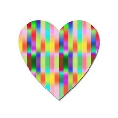 Multicolored Irritation Stripes Heart Magnet by designworld65