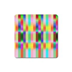 Multicolored Irritation Stripes Square Magnet
