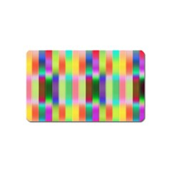 Multicolored Irritation Stripes Magnet (name Card) by designworld65