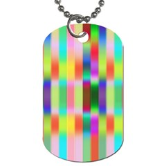 Multicolored Irritation Stripes Dog Tag (one Side)