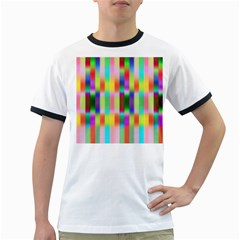 Multicolored Irritation Stripes Ringer T Shirts