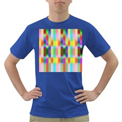 Multicolored Irritation Stripes Dark T Shirt