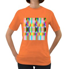 Multicolored Irritation Stripes Women s Dark T Shirt