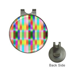 Multicolored Irritation Stripes Hat Clips With Golf Markers