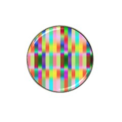 Multicolored Irritation Stripes Hat Clip Ball Marker