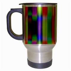 Multicolored Irritation Stripes Travel Mug (silver Gray)