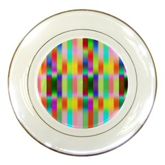 Multicolored Irritation Stripes Porcelain Plates
