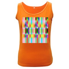 Multicolored Irritation Stripes Women s Dark Tank Top