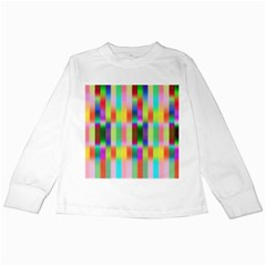 Multicolored Irritation Stripes Kids Long Sleeve T Shirts