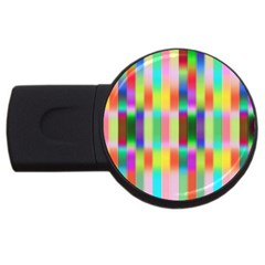 Multicolored Irritation Stripes Usb Flash Drive Round (4 Gb)